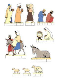 Bricolage de Noël : personnages pour réaliser une crèche