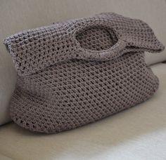 Na nákupy...šedohnedá Originálna háčkovaná taška zhotovená z bavlnenej priadze…