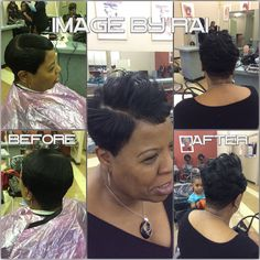 My client yesterday.... Great hair stylist. Love short hair