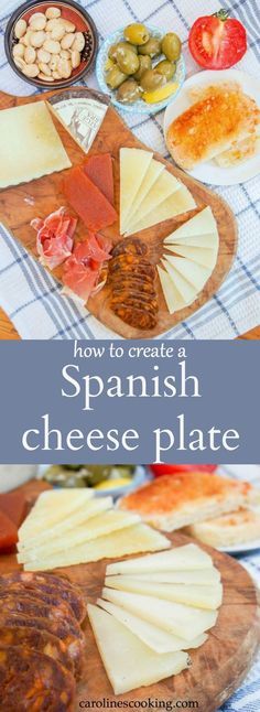 A Spanish cheese plate, with or without cured meats as well, is a great way to start a meal or for a light lunch. Get tips on what to include for your authentic taste of Spain. #SundaySupper
