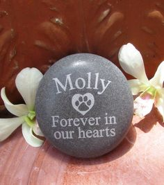 Personalized Pet Memorial Garden Stone Engraved by LoveRocksInc, $19.95