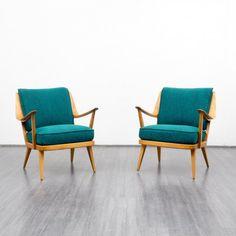 Velvet-Point - armchairs / easy chairs Rare 1950s armchair, walnut, reupholstered, Knoll Antimott, dispo 2 - Karlsruhe