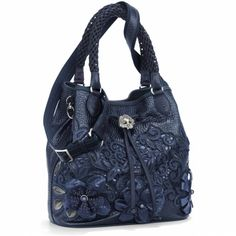 Brighton Handbags Product | Catch the Moon Pearl Soft Bucket Bag Shoulderbags at Brighton