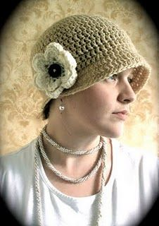 Crochet flapper hat pattern link!