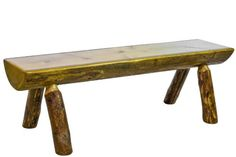 Montana Woodworks Glacier Country Collection Half Log Bench 6Feet * Check this awesome product by going to the link at the image. (Amazon affiliate link)
