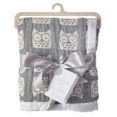 @rosenberryrooms is offering $20 OFF your purchase! Share the news and save! (*Minimum purchase required.) Grey Owl Muslin Jacquard Baby Blanket #rosenberryrooms