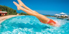 Pool workout! All you need is a noodle. You'll burn major calories if you tread water, do mountain climbers and do in-water jumps. #SelfMagazine