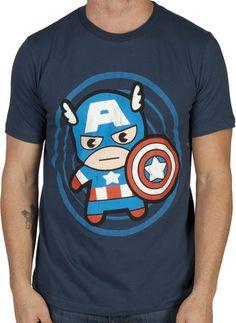 Kawaii Style Captain America Shirt