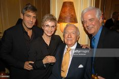 George Clooney, Nina Clooney, Walter Cronkite and Nick Clooney attend Walter…