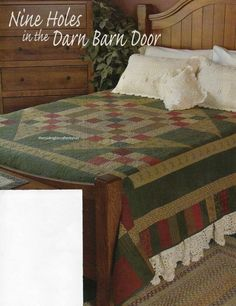 Nine Holes In The Barn Door Quilt Pattern Pieced SD