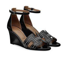 Hermès Round-Toe Suede Wedges cheap price original visit cheap price cheap clearance wide range of tumblr teYfQksa