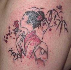Cherry Blossom Girl Tattoo