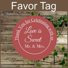 This listing is for an INSTANT DOWNLOAD PDF file.  You will receive the file link in your email after you make payment by paypal. The file has 12 round labels 2.5 inches ea... #etsy #wedding