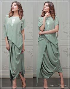 Drape Hem Dresses Fashion Trend for Ladies – Designers Outfits Collection Pakistani Dresses, Indian Dresses, Indian Outfits, Kurta Designs, Blouse Designs, Indian Designer Outfits, Designer Dresses, Stylish Dresses, Women's Fashion Dresses