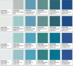 These are a samples of Pantone& blues. Pantone Color Chart, Pantone Colour Palettes, Purple Color Chart, Color Blue, Blue Green, Azul Pantone, Pantone Swatches, Colour Pallette, Colour Board