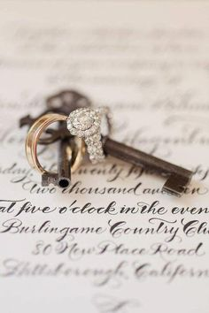 skeleton key and wedding rings @bullmommy  thought of you when I saw this