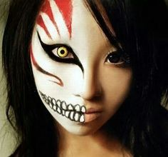 Halloween - this is awesome makeup, it looks like 2 different beings