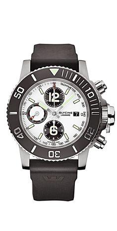9419bf0b0 Glycine Lagunare Chrono L1000 Mechanical Watch, Casio Watch, Watch,  Wisteria Tree, Wristwatches