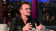 Bono of U2 on the Late Show with DavidLattermanDaily September 26, 2013)...