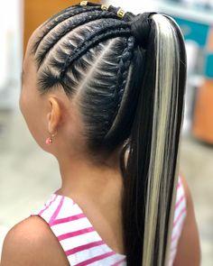La imagen puede contener: una o varias personas, rayas y primer plano New Natural Hairstyles, Braided Bun Hairstyles, Dance Hairstyles, African Braids Hairstyles, Cute Hairstyles, Natural Hair Styles, Long Hair Styles, Easy Hairstyle, Cool Braids