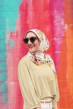 Anthropolgie-Cutout Cropped Jeans-Sal Boatneck Top-Haute Hijab-Baltimore-Spring Style-Hijab-White Denim-Fashion Blogger