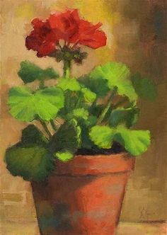 Image result for Watercolor Paintings of Geraniums
