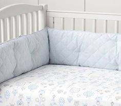 Owl Crib Fitted Sheet, Blue, Pottery Barn Kids