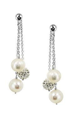 Shop Honora LE5672WH Earrings | Bailey Banks & Biddle