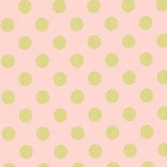 One Yard - 1 Yard - Michael Miller - Glitz - Quarter Dot Pearlized in Blush