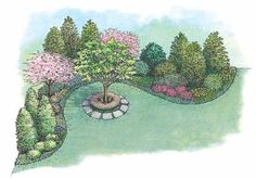 Landscape Plan with 0 Square Feet from Dream Home Source | House Plan Code DHSW54649