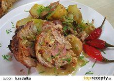 Kuřecí roláda s nádivkou z vepřovky recept - TopRecepty.cz Meat, Chicken, Food, Essen, Meals, Yemek, Eten, Cubs