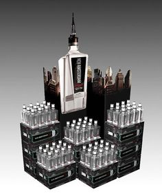 New Amsterdam's skyline display | Community Post: 13 Brilliantly Clever Point Of Sale Displays