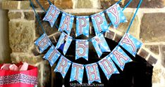 FREE Frozen Printable Birthday Banner available at SHYbyDESIGN.com