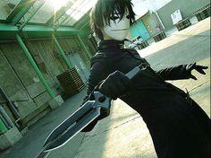 Hei (Darker than Black) cosplay.