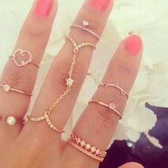 Mid finger rings