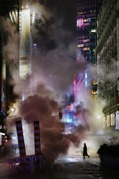 #NYC. Men in smoke // Christophe Jacrot