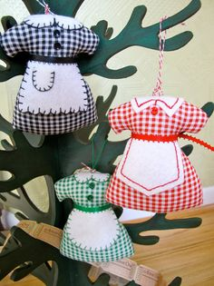 Sunday Best Apron Ornaments or Pin Cushions - Inspired by the movie  - The Help - Choose 2 for 18.00