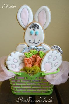 Easter bunny cookies — Easter.  This has possibilities.