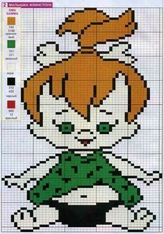 The Flintstones x-stitch Cross Stitch Fabric, Cross Stitch Baby, Cross Stitching, Cross Stitch Embroidery, Embroidery Patterns, Cross Stitch Patterns, Beaded Banners, Filet Crochet Charts, Pixel Pattern