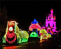 Disney World's Main Street Electrical Parade.