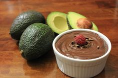 Chocolate Avocado Pudding!  This pudding is amazing!  My husband couldn't believe the main ingredient was avocado after trying it.
