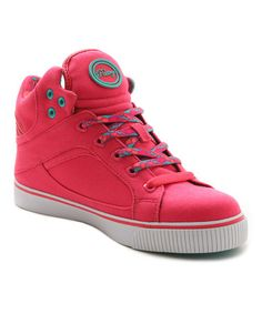 Love this Pink & Aqua Sire Classic Hi-Top Sneaker by Pastry on #zulily! #zulilyfinds
