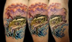 Bass Fish Tattoo by Kelly Doty