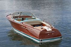 Ferruccio Lamborghini's Twin-V12 Riva Speedboat is a marvel of boat design and aesthetics. Click to see it in action! #beauty #spon