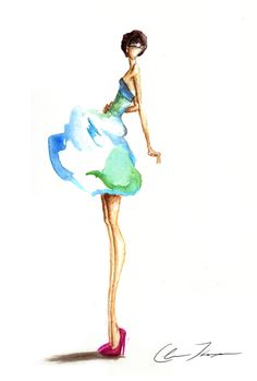 Design Portfolio of Claire Thompson  Fashion Illustrator
