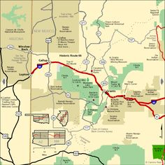 Byway Standard Map - NM Western Section Road Trip Map, Route 66 Road Trip, Travel Route, Rv Travel, Travel Maps, Historic Route 66, Southwest Usa, Tourist Map, New Mexico