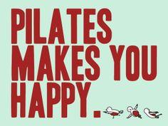Pilates Makes You Happy