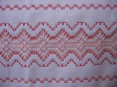 Swedish Weaving Pattern Swedish Embroidery, Types Of Embroidery, Cross Stitch Embroidery, Embroidery Patterns, Hand Embroidery, Cross Stitch Patterns, Huck Towels, Swedish Weaving Patterns, Chicken Scratch Embroidery