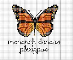 Monarch butterfly (no color chart); simple pattern for mosaics perhaps