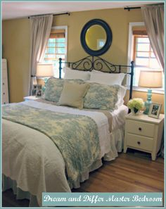 Dream and Differ: Master Bedroom Reveal...Tobacco Road wall paint color